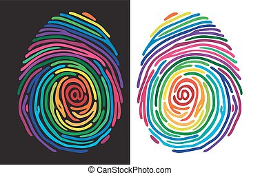 colorare, stampa, dito