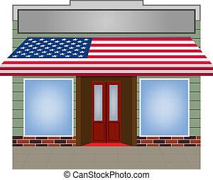 colorare, tenda, vettore, flagged, stati uniti