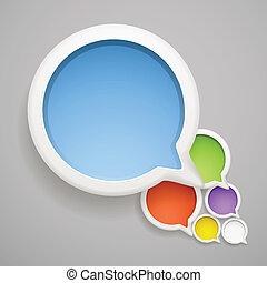 colorare, testo, astratto, fo?, bubbles., discorso, pronto, nuvola