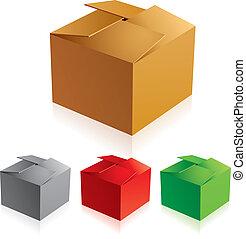 colorare, %u0421losed, scatole, cartone