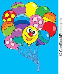 colorare, vario, palloni