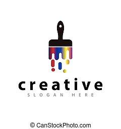colorare, vettore, spazzola, sagoma, logotipo, icona