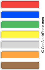 colorare, web, bianco, orlo, bottoni