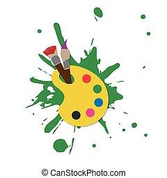 colorare, web, tavolozza, illustratore, icona