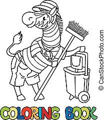 coloration, alphabet, book., zebra, animal, gardien, z