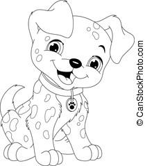 coloration, dalmatien, page