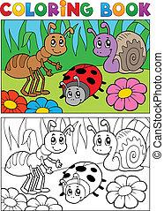 coloration, image, bogues, thème, livre, 5
