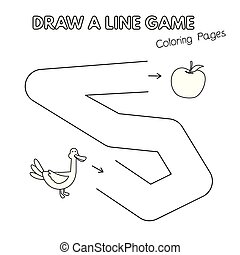 coloration, jeu gosses, livre, canard, dessin animé