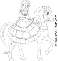 coloration, princesse, page