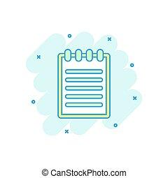 colorato, affari, concept., illustrazione, segno, nota, cartone animato, schizzo, carta, comico, documento, style., pagina, pictogram., icona