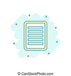 colorato, affari, concept., quaderno, illustrazione, segno, nota, schizzo, pictogram., comico, documento, style., cartone animato, icona