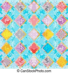 colorato, astratto, illustrazione, fondo., vettore, delicato, polygons., geometrico