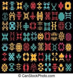 colorato, astratto, isolato, collezione, simboli, luminoso, disegno, tuo