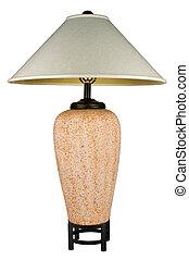 colorato, ceramica, contemporaneo, lampada, tavola, ruggine