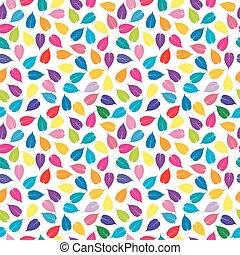 colorato, colorito, modello, seamless, foglie, fondo