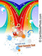 colorato, festival, fondo., vettore, illustrazione
