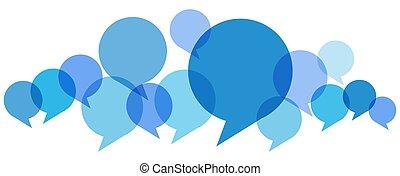 colorato, fila, discorso, bolle