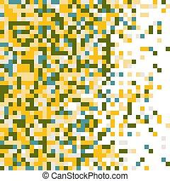 colorato, multi, pixelation.