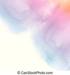 colorato, sfondo pastello, watercolour