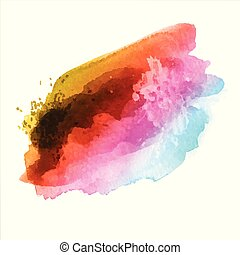 colorato, watercolour, struttura, arcobaleno