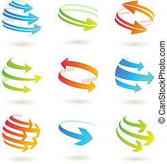 Colordul arrow icon