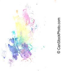 colore acqua, vernice, splatter