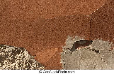 colore arancia, parete, texture.