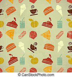 colore cibo, seamless, fondo