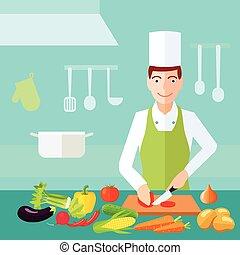colore cucina, concetto, appartamento