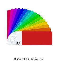 colore isolato, scheda, 3d, interpretazione