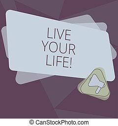 colore motivazione, foto, vuoto, seguire, tuo, compiere, scrittura, nota, vivere, megafono, rettangolo, triangolo, affari, esposizione, mete, fare un sogno, ispirazione, announcement., dentro, showcasing, life.