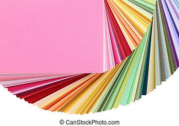 colore muestras, libro
