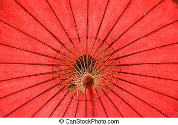 colore ombrello, fatto mano, 2, tailandese, beautifu