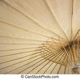 colore ombrello, fatto mano, 3, tailandese, beautifu
