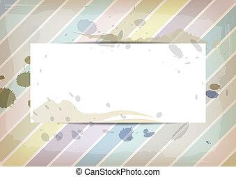 colore pastello, splatter, carta, inchiostro, bianco