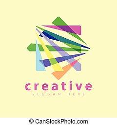 colore quadrato, vettore, sagoma, logotipo, icona