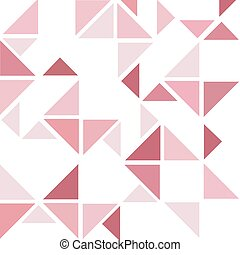 colore rosa scuro, astratto, triangolo, fondo