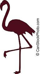 colore rosa scuro, fenicottero, silhouette