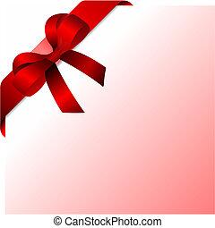 coloreado, bow., vector, ilustración, diseñadores, navidad
