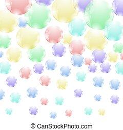 coloreado, jabón burbujea, patrón