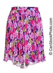coloreado, mujeres, falda