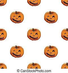 coloreado, patrón, halloween, ilustración, tema, grande