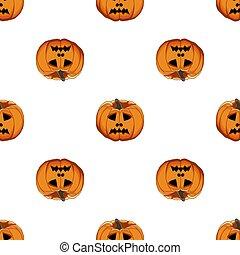 coloreado, patrón, tema, grande, halloween, ilustración