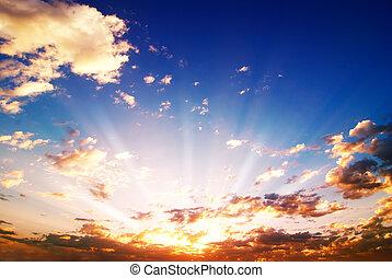coloreado, salida del sol