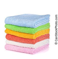 coloreado, toallas