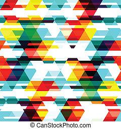 coloreado, triángulo, seamless, patrón