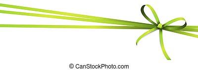 coloreado, verde, cinta, arco