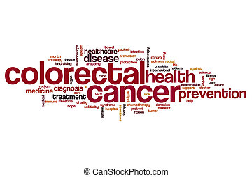 Colorectal cancer word cloud