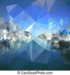 Colored abstract background. Mountains and sea landscape, triangle design vector illustration