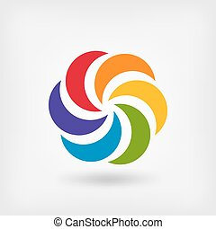 Colored abstract circle symbol